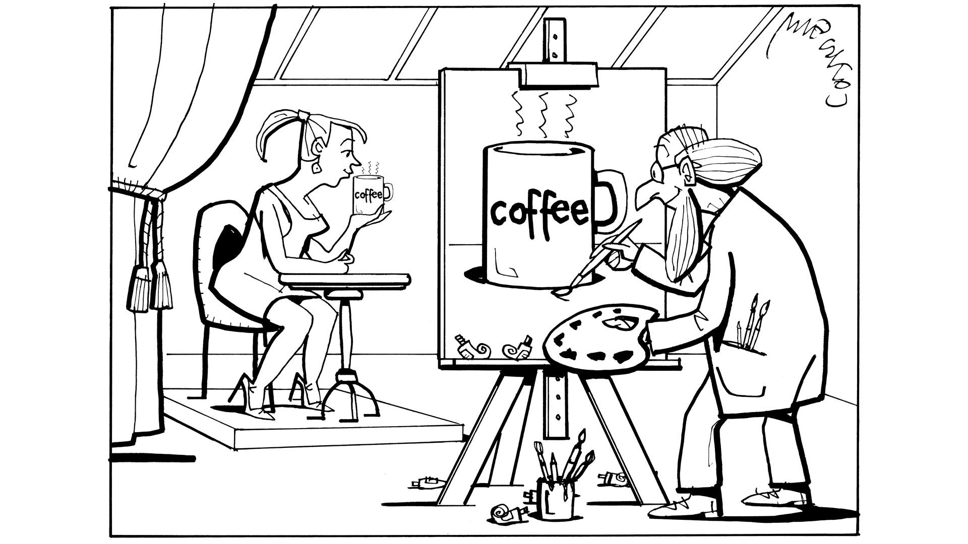 Kawa w sztuce