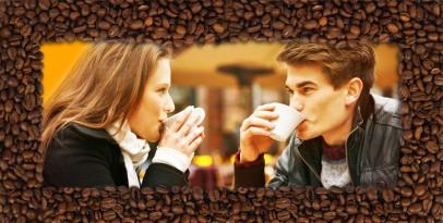Ramka z ziaren kawy