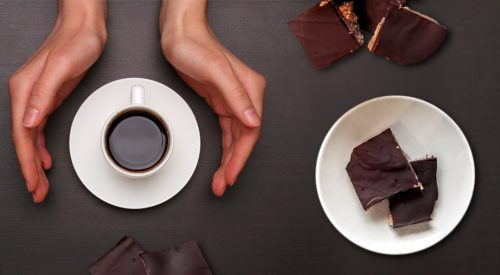 Ziarnista czekolada toffi