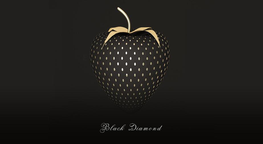 Deser z pozłacanymi truskawkami