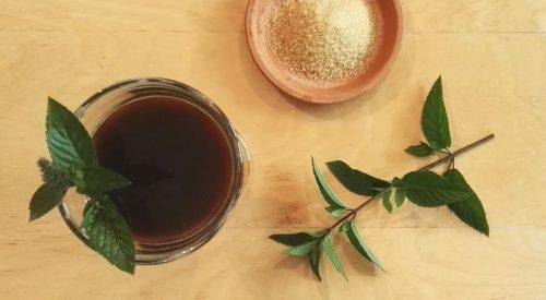 Kawowo-miętowy koktajl