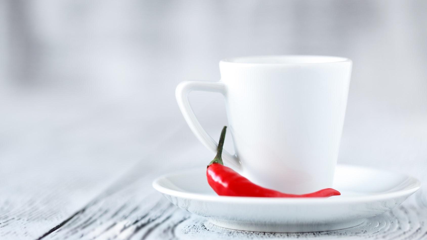 Latte z czekoladą i chili
