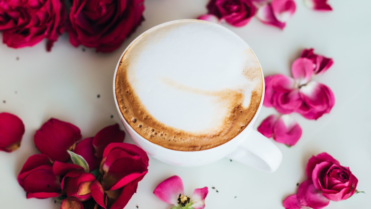Różane cappuccino