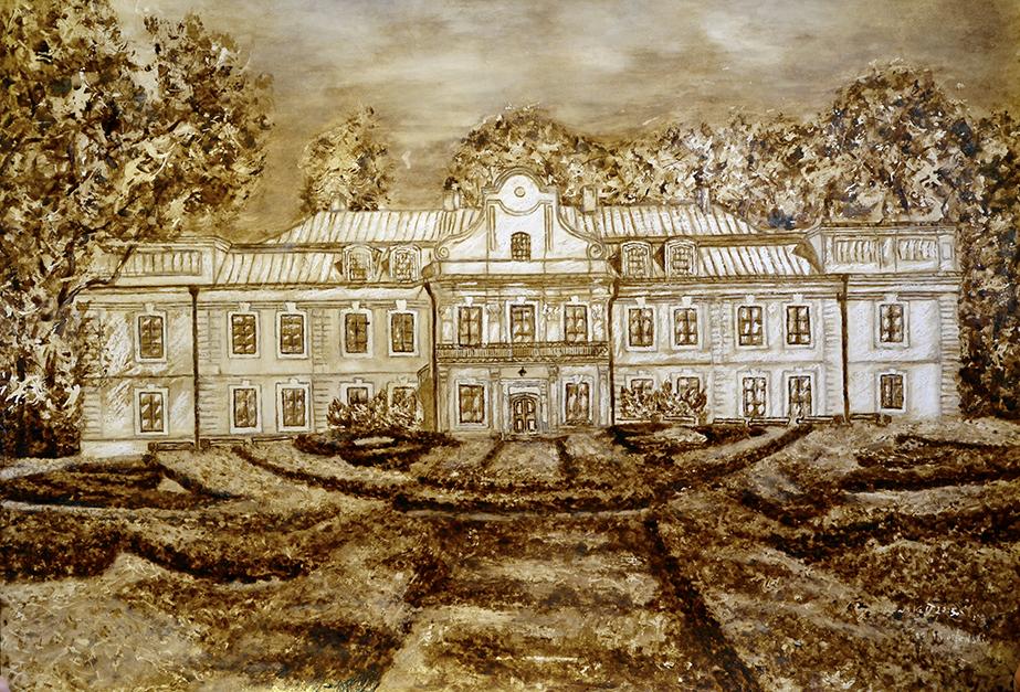 Pałac-Miroszewskich,-obraz-namalowany-kwą,-70x80-2015r