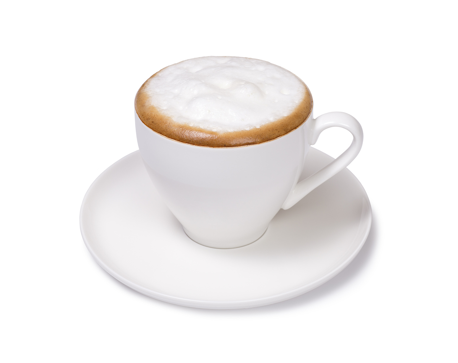 cup of cappuccino isolated