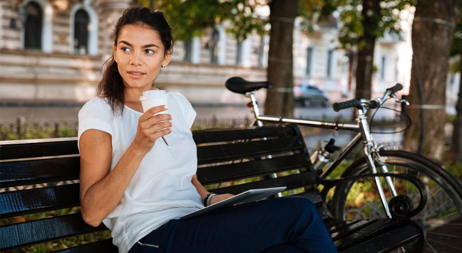 Kawa na rowerze